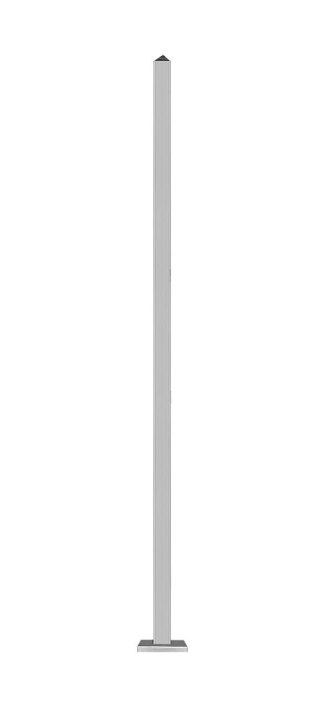 Edelstahlpfosten 6 x 6 x 130 cm zum Aufschrauben