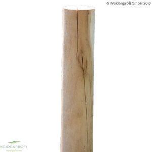Holzpfosten Robinie rund, gefräst, Ø 8