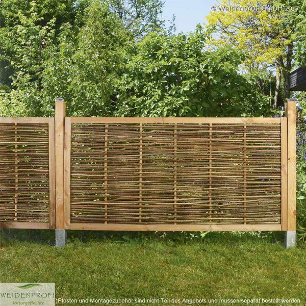 Gartenzaun Haselnuss CIRCO Komfort, mit umlaufendem Rahmen