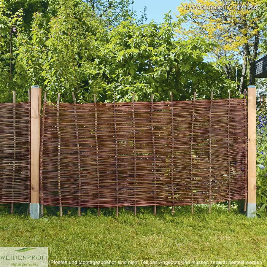 Gartenzaun Weide Baldo Natur Ohne Rahmen